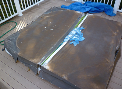 LA area hot tub cover that needs replacing