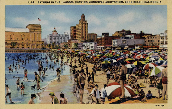 Long Beach Old Postcard