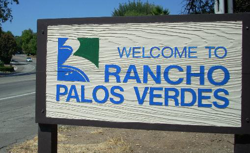 Sign Welcome to Rancho Palos Verdes